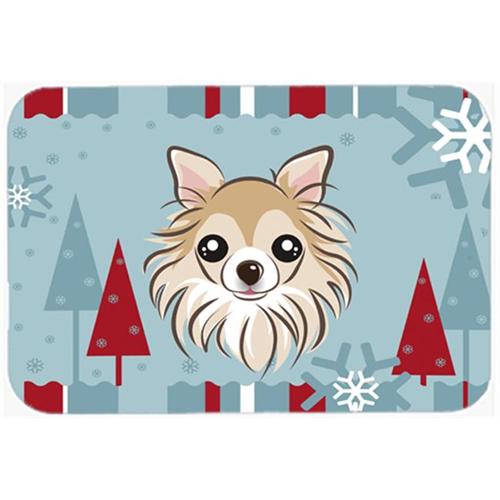 Carolines Treasures BB1747MP Winter Holiday Chihuahua Mouse Pad Hot Pad & Trivet