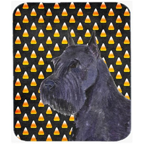 Carolines Treasures SS4316MP Schnauzer Giant Candy Corn Halloween Portrait Mouse Pad Hot Pad or Trivet