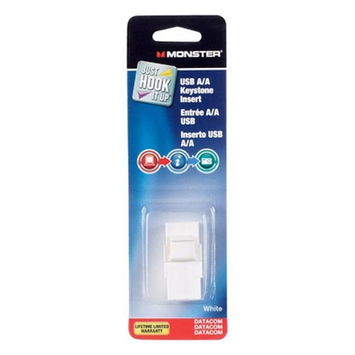 Monster Jhiu 140242-00 Cable USB Keystone Insert White