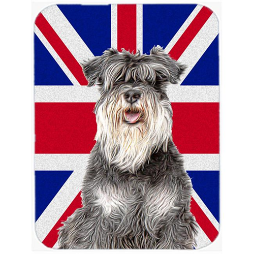 Carolines Treasures KJ1164MP Schnauzer with English Union Jack British Flag Mouse Pad Hot Pad or Trivet