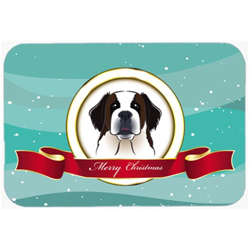 Carolines Treasures BB1556MP Saint Bernard Merry Christmas Mouse Pad Hot Pad & Trivet