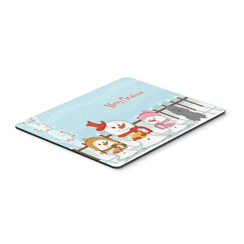 Carolines Treasures BB2399MP Merry Christmas Carolers Poodle Silver Mouse Pad Hot Pad or Trivet