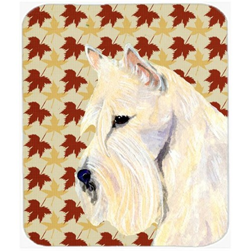 Carolines Treasures SS4326MP Scottish Terrier Wheaten Fall Leaves Portrait Mouse Pad Hot Pad Or Trivet