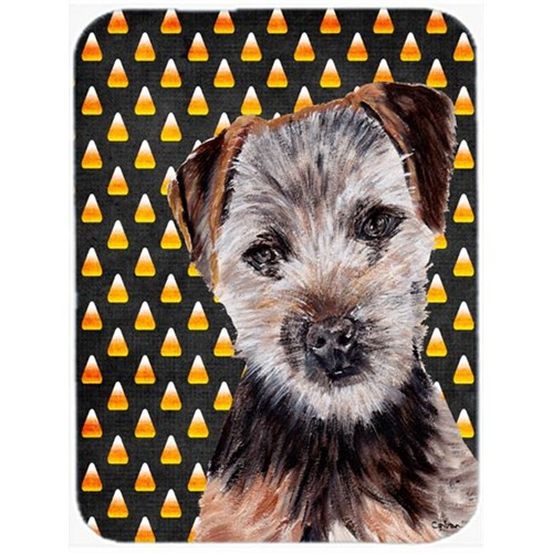 Carolines Treasures SC9663MP Norfolk Terrier Puppy Candy Corn Halloween Mouse Pad Hot Pad Or Trivet 7.75 x 9.25 In.