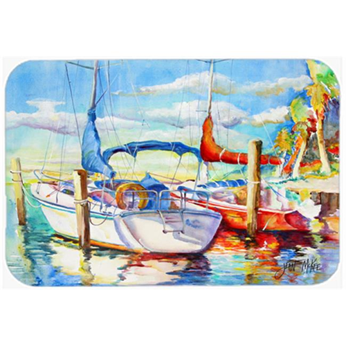 Carolines Treasures JMK1088MP Towering Q Sailboat Mouse Pad Hot Pad & Trivet