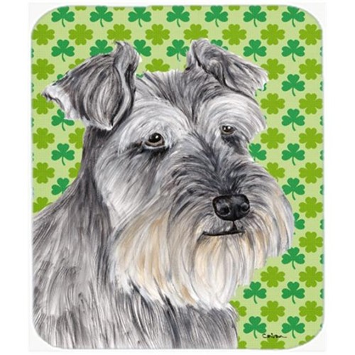 Carolines Treasures SC9313MP Schnauzer St. Patricks Day Shamrock Portrait Mouse Pad Hot Pad or Trivet