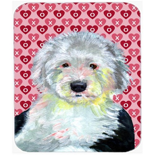 Carolines Treasures LH9171MP Old English Sheepdog Hearts Love Valentines Day Mouse Pad Hot Pad or Trivet