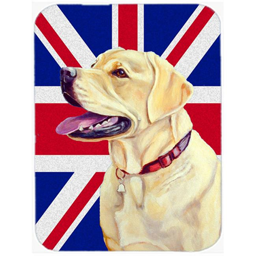 Carolines Treasures LH9490MP 7.75 x 9.25 In. Labrador With English Union Jack British Flag Mouse Pad Hot Pad Or Trivet