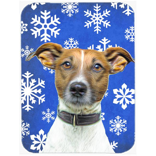Carolines Treasures KJ1176MP Winter Snowflakes Holiday Jack Russell Terrier Mouse Pad Hot Pad or Trivet