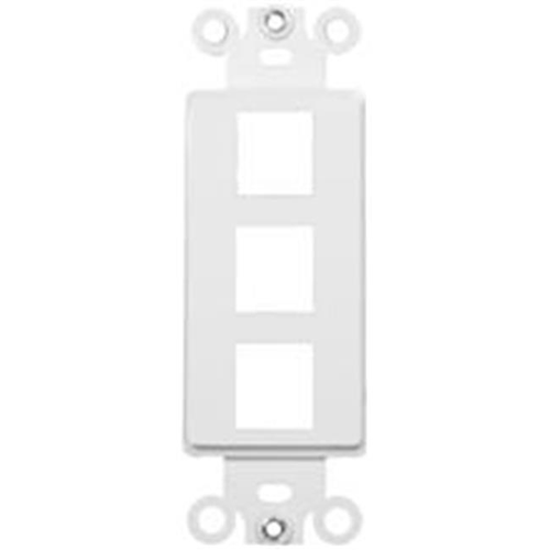 Morris Products 88116 Decorator Wallplate For Keystone Jacks And Modular Inserts Three Ports White