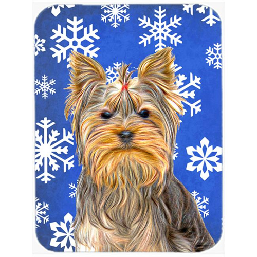 Carolines Treasures KJ1177MP Winter Snowflakes Holiday Yorkie & Yorkshire Terrier Mouse Pad Hot Pad or Trivet