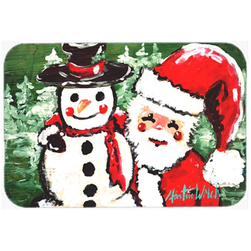 Carolines Treasures MW1167MP Friends Snowman and Santa Claus Mouse Pad Hot Pad or Trivet