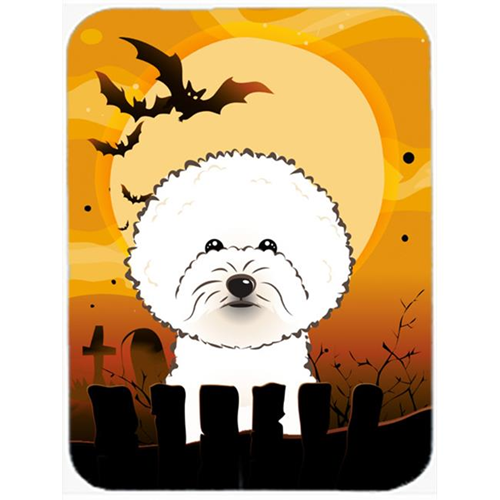 Carolines Treasures BB1775MP Halloween Bichon Frise Mouse Pad Hot Pad & Trivet