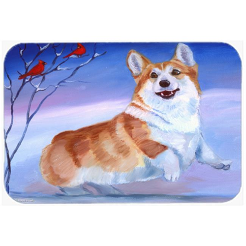 Carolines Treasures 7328MP Corgi Snow Cardinal Mouse Pad Hot Pad & Trivet