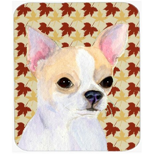 Carolines Treasures SS4382MP Chihuahua Fall Leaves Portrait Mouse Pad Hot Pad Or Trivet