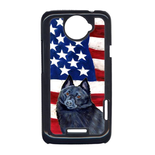 Carolines Treasures LH9009HTCONE USA American Flag With Schipperke HTC One X Cell Phone Cover