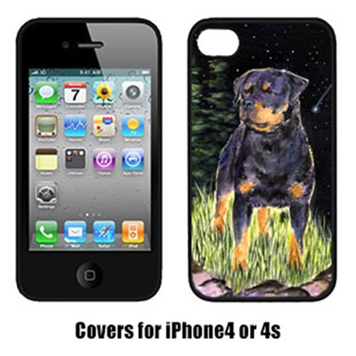 Carolines Treasures SS8475IP4 Starry Night Rottweiler Cell Phone Cover Iphone 4