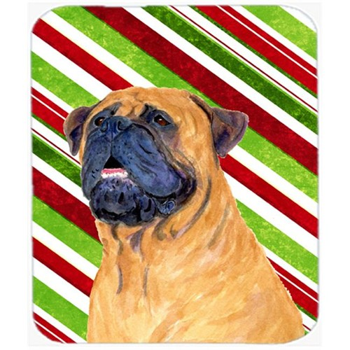 Carolines Treasures SS4589MP Mastiff Candy Cane Holiday Christmas Mouse Pad Hot Pad Or Trivet