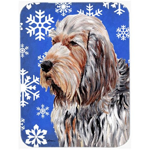 Carolines Treasures SC9780MP Otterhound Winter Snowflakes Mouse Pad Hot Pad Or Trivet 7.75 x 9.25 In.