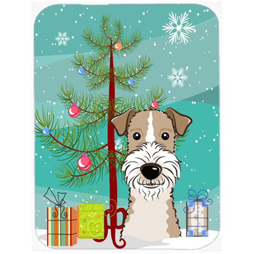 Carolines Treasures BB1619MP Christmas Tree And Wire Haired Fox Terrier Mouse Pad Hot Pad & Trivet