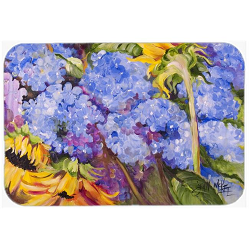 Carolines Treasures JMK1119MP Hydrangeas And Sunflowers Mouse Pad Hot Pad & Trivet