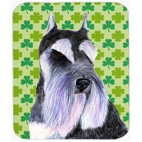 Carolines Treasures SS4408MP Schnauzer St. Patricks Day Shamrock Portrait Mouse Pad Hot Pad Or Trivet