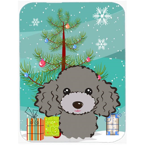 Carolines Treasures BB1631MP Christmas Tree And Silver Gray Poodle Mouse Pad Hot Pad & Trivet