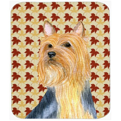 Carolines Treasures LH9091MP Silky Terrier Fall Leaves Portrait Mouse Pad Hot Pad Or Trivet
