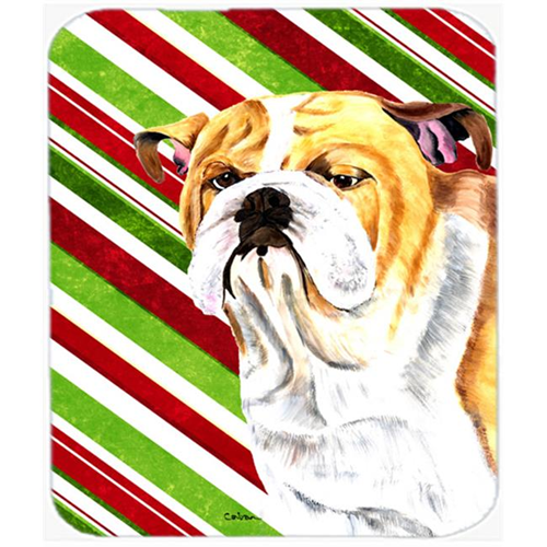 Carolines Treasures SC9334MP Bulldog English Candy Cane Holiday Christmas Mouse Pad Hot Pad or Trivet