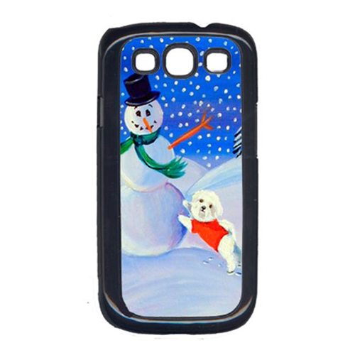 Carolines Treasures 7145GALAXYSIII Snowman with a Bichon Frise Cell Phone Cover Galaxy S111