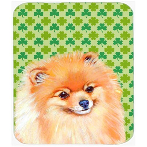 Carolines Treasures LH9215MP Pomeranian St. Patricks Day Shamrock Portrait Mouse Pad Hot Pad or Trivet