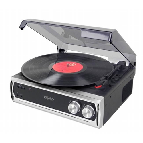 Jensen Audio JTA 232 3 Speed Stereo Turntable With Built In Speakers U0026 Speed  Adjustment
