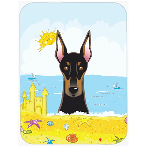 Carolines Treasures BB2113MP Doberman Summer Beach Mouse Pad Hot Pad or Trivet