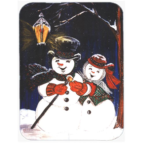 Carolines Treasures CN5134MP Snowman Couple Mouse Pad Hot Pad Or Trivet