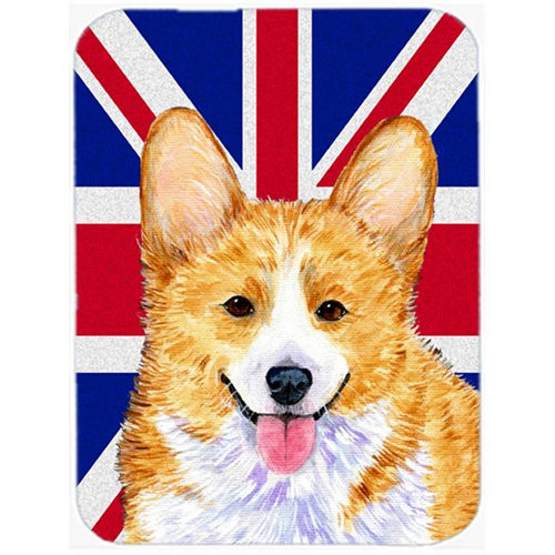 Carolines Treasures SS4928MP 7.75 x 9.25 In. Corgi With English Union Jack British Flag Mouse Pad Hot Pad Or Trivet