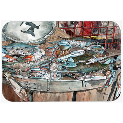 Carolines Treasures 8961MP Basket Full of Blue Crabs Mouse Pad Hot Pad or Trivet
