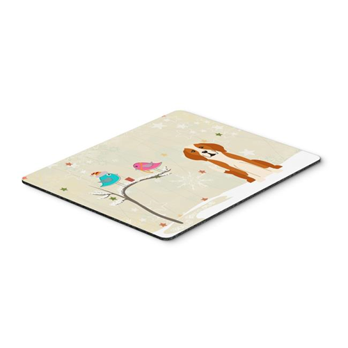 Carolines Treasures BB2582MP Christmas Presents Between Friends English Foxhound Mouse Pad Hot Pad or Trivet