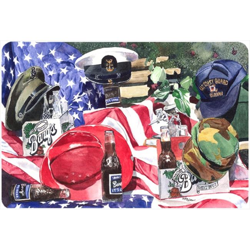 Carolines Treasures 1012MP 9.25 x 7.75 in. Barqs and Armed Forces Mouse Pad Hot Pad Or Trivet