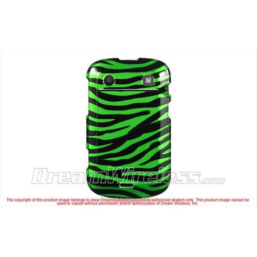 DreamWireless CABB9900GRZ Blackberry Bold Touch 9900 9930 Crystal Case - Green with Black Zebra