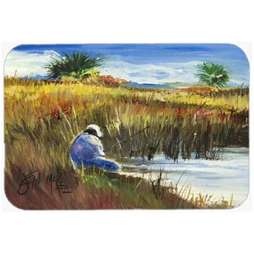 Carolines Treasures JMK1125MP Fisherman On The Bank Mouse Pad Hot Pad & Trivet