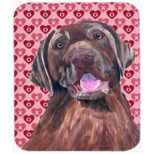 Carolines Treasures SC9253MP Labrador Chocolate Hearts Love And Valentines Day Mouse Pad Hot Pad Or Trivet