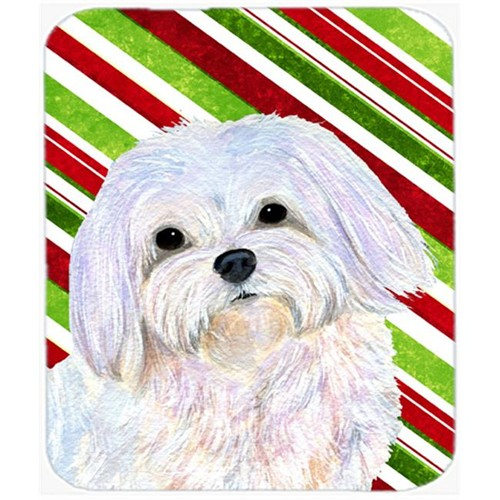 Carolines Treasures SS4551MP Maltese Candy Cane Holiday Christmas Mouse Pad Hot Pad Or Trivet