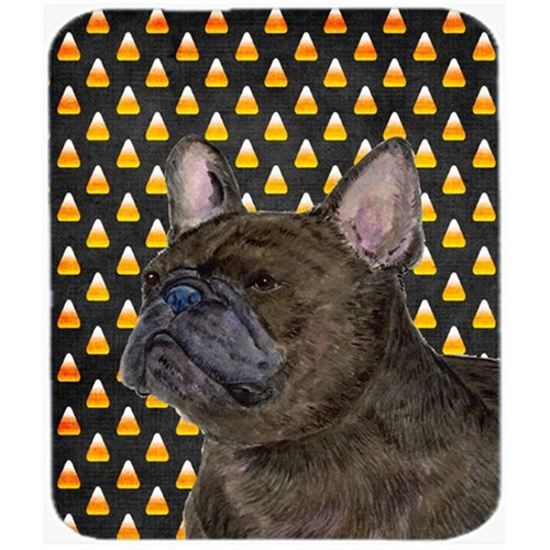 Carolines Treasures SS4312MP French Bulldog Candy Corn Halloween Portrait Mouse Pad Hot Pad or Trivet