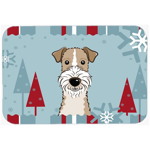 Carolines Treasures BB1743MP Winter Holiday Wire Haired Fox Terrier Mouse Pad Hot Pad & Trivet