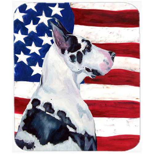 Carolines Treasures LH9013MP Usa American Flag With Great Dane Mouse Pad Hot Pad Or Trivet