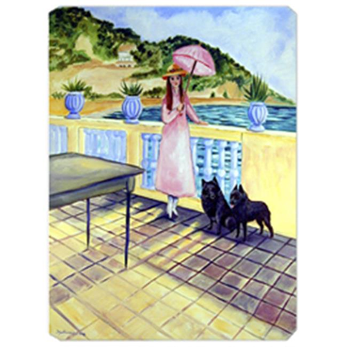 Carolines Treasures 7267MP 8 x 9.5 in. Lady with her Schipperke Mouse Pad Hot Pad or Trivet