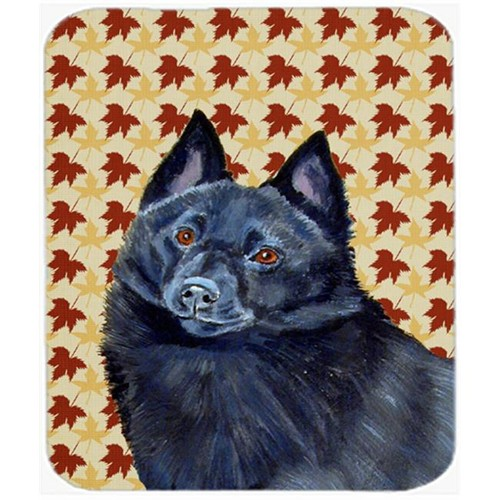 Carolines Treasures LH9114MP Schipperke Fall Leaves Portrait Mouse Pad Hot Pad Or Trivet