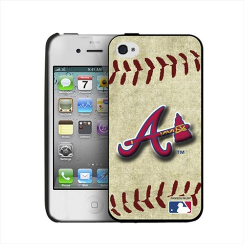 Pangea IP4-MLB-BB-ATL iPhone 4 & 4S Vintage Edition Atlanta Braves Hard Cover Case