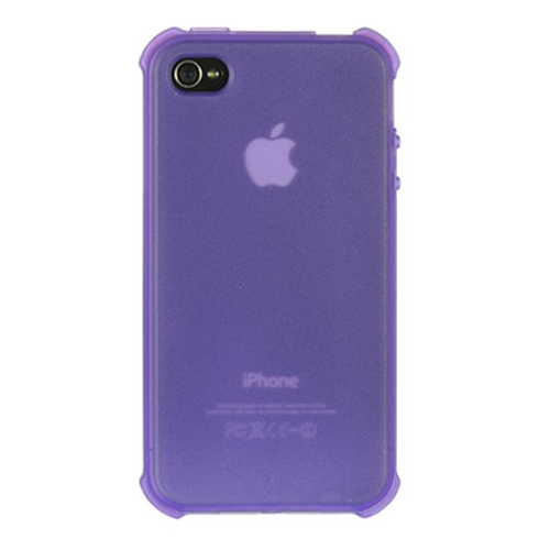DreamWireless IP-CSIP4VZBPPP-TN iPhone 4S & iPhone 4 Compatible Crystal Skin Case - Bumper-Purple Tinted