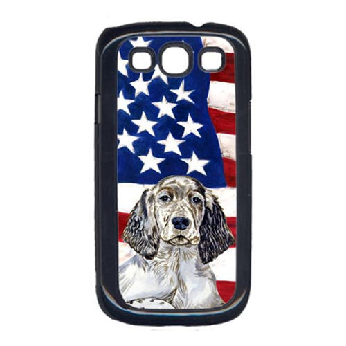 Carolines Treasures LH9022GALAXYS3 USA American Flag with English Setter Cell Phone Cover GALAXY S111